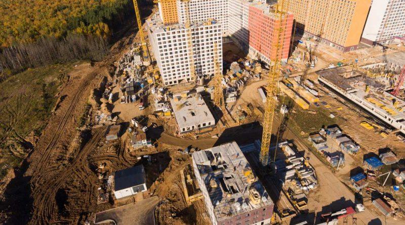 Саларьево Парк ход строительства корпус 15 дата съемки 14.10.2018