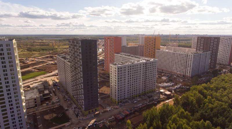 Саларьево Парк ход строительства корпус 5 дата съемки 30.09.2018