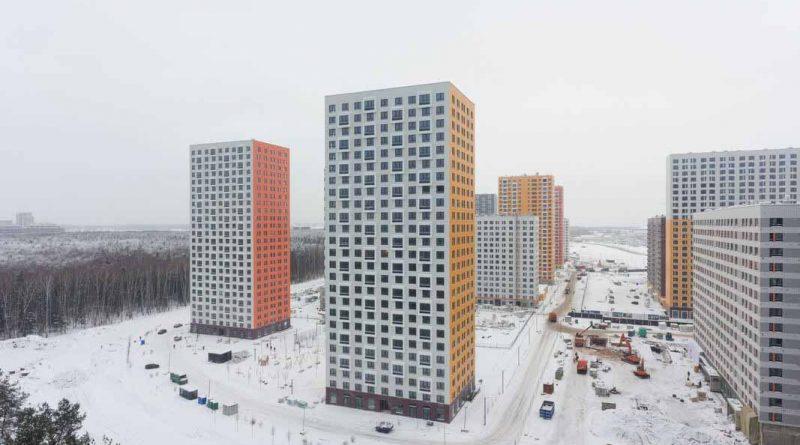 Саларьево Парк ход строительства корпус 9 дата съемки 20.12.2018