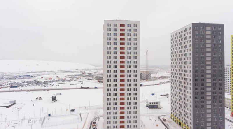 Саларьево Парк ход строительства корпус 1 дата съемки 20.12.2018